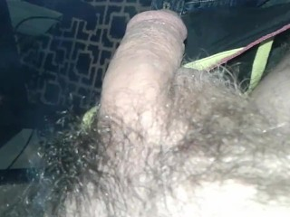 Blowing clouds on my cock