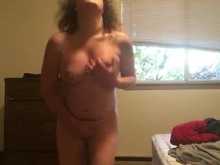 Transgender MtF self spank intense prostate orgasm