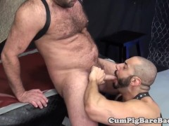 Rimmed bear assfucked by muscular stud