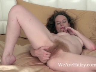 Amateur honeymoon porn ana molly strips nude to masturbate in bed wearehairy masturbate teasin