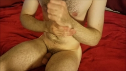 Jacking off then rubbing cum all over my forearms
