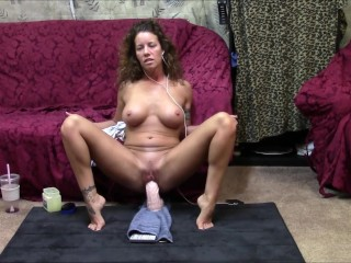 Face to face dildo ride session. Watch me ride as I watch you stroke to me.