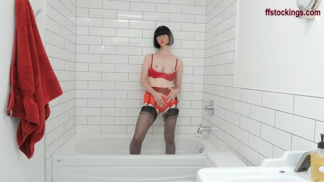 Lingeries see through - Ffstockings - soaked soapy and see through