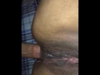 Fuckig ass while larina drips wet