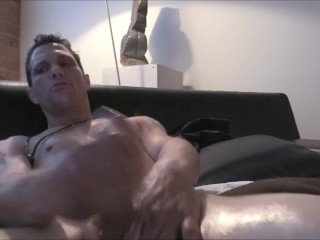 Solo Male Model ... Busting a Nut and Moaning