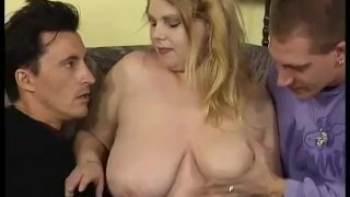 german bbw babe picked up for threesome
