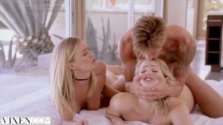 VIXEN Mia Malkova and Natalia Starr share a HUGE cock!!