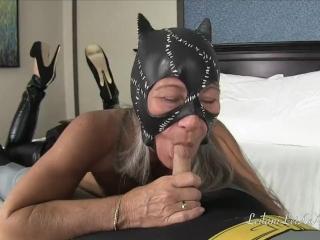 CatWoman Drains BatBalls POV BJ