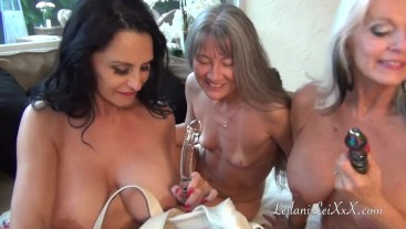 Evening at the Spa with 3 MILFS