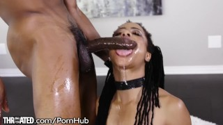 Kira Noir's First Throating Scene with Huge Dick porno