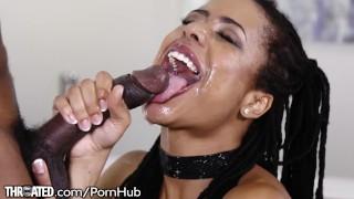 Kira Noir's First Throating Scene with Huge Dick
