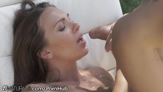 Lovers have Sensual Anal Sex by the Pool