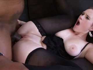 Cougar With Big Natural Tits Gets Facial By BBC