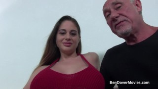 Cathy Heaven fucking with Grandad Ben Dover Blowjob riding