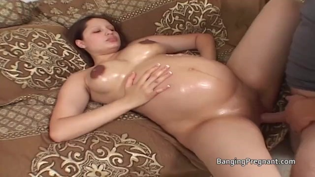Rotten fuck of the month aechives Pretty nine month pregnant chick oiled and fucked
