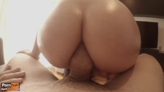 Getting my tight ass fucked by a thick cock (HUGE CUMSHOT!) Perfect butt