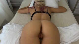 Teen step sister wakes up to a hard cock