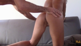 Insatiable hot babe ride big fat cock - anal creampie! Slutty big
