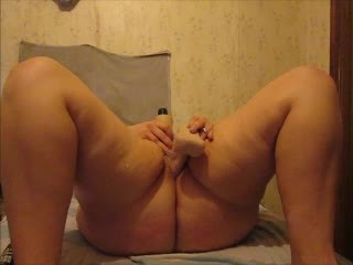 Having fun with an 8 in dildo. Solo play