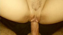 Cock Rubbing Clit (cum on pussy)