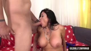 Mature Brunette Sheila Marie Masturbates Before Sucking and Fucking