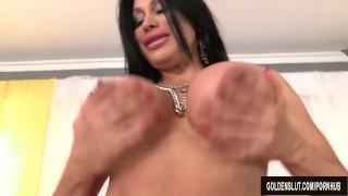 Mature Brunette Sheila Marie Masturbates Before Sucking and Fucking porno