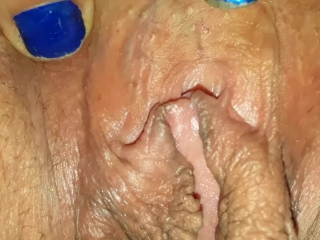 Closeup spread Pussy with Big lips