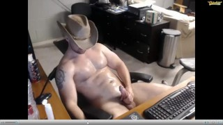Cowboy edging and cumming 6 times on webcam