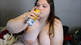 Drunk Sloppy Bbw Yoshiko Drinking and Dildo Fucking  big ass point of view stretch marks bbw dildo masturbate drunk chubby feedee butt horny big boobs ass shaking intox drinking strips