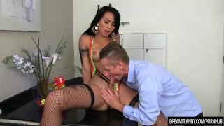Shameless Shemale Nicolly Pantoja Enjoys a Dick Up Her Ass