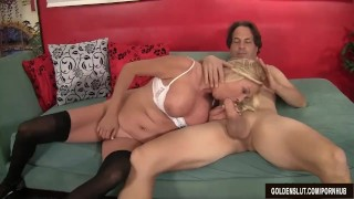 Take and mature loves sara skippers to cock her it blonde up suck pussy mother woman