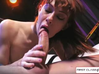 First Class POV – Watch Alexa Nova sucking a big fat dick in POV action