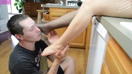 TSM - Kip's fishnet and barefoot worship