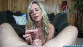 Jodi West strokes you dick until you cum! Peruvian 18