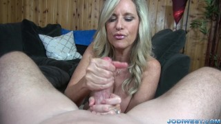 Jodi West strokes you dick until you cum! Sex young