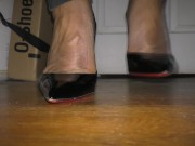 Giant Shemale Crossdresser in Christian Louboutin So Kate Pumps (SFX Test!)