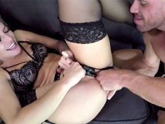 Dirty weekend sex kit in action by Johnny and Kissa Sins