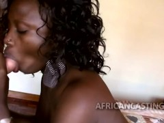 : African sex queen nibbles on penis