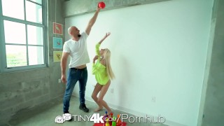 Preview 3 of Tiny4k Teenie tiny Hime Marie fuck and facial after toy bowling