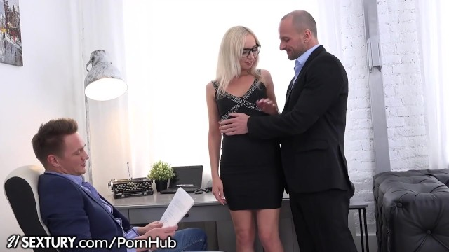 Most effective herbal peniss enhancement - Bambi gets double dicked at the office