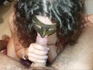 BIG COCK BLOWJOB IS HER DREAMJOB