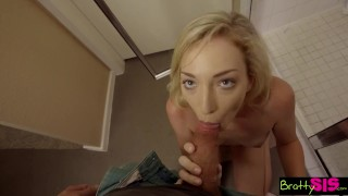 Bratty Sis - My Cock Slips In step Sisters Pussy And She Loves It  step siblings point of view big cock blonde blowjob cumshot small tits skinny young hardcore brattysis cream pie step brother zoe parker step sister shaved pussy