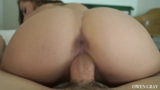 Sydney with cum filled and fucked hard cole riding fuck