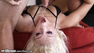 Tiffany Watson Throats Cock Like a Little Slut