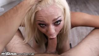 Tiffany Watson Throats Cock Like a Little Slut