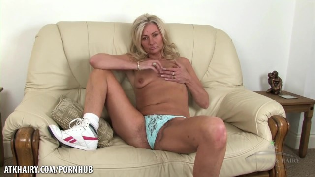 Atk hairy ava Mature hairy blonde goes for a walk and talks dirty.