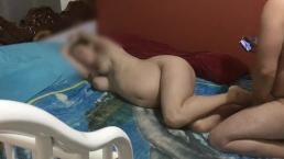 StepMom Pregnant MILF make a excellent handjob - CENSORED FACE