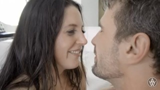 White creampie emotional and angela gets after cries crying brunette