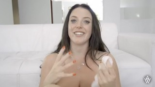 Angela White gets emotional and cries after creampie Wickedpictures on