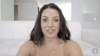 Angela White gets emotional and cries after creampie Drilled fingered